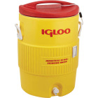 Igloo 10 Gal. Yellow Industrial Water Jug with Cup Dispenser Bracket Image 1