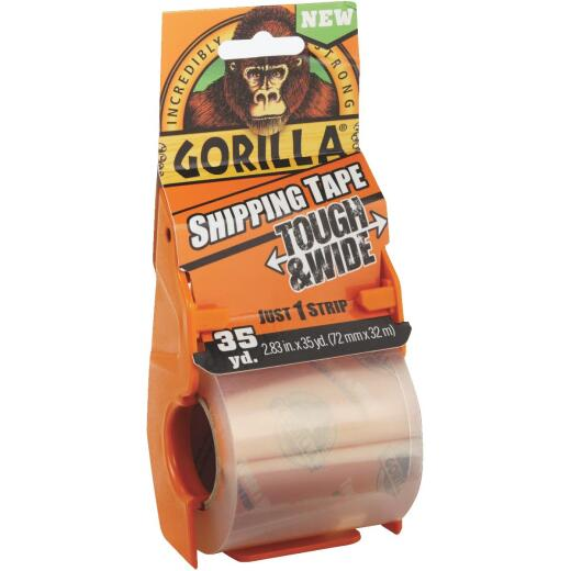 Gorilla 2.83 In. W. x 35 Yd. L. Clear Shipping Tape